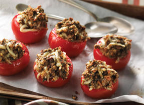 Tomatoes Stuffed with Mushroom Duxelles and Cantonnier de Warwick Cheese