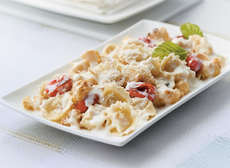 Tortellini with Roasted Cauliflower and Tomatoes  Recipe