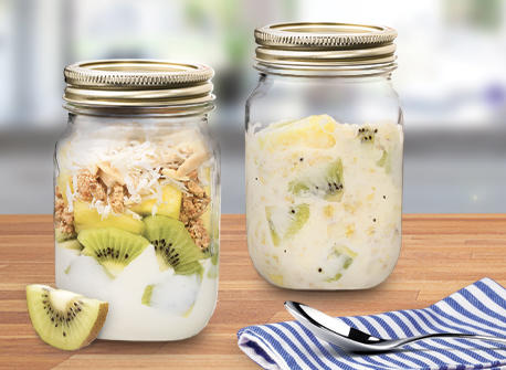 Tropical Kiwi Breakfast Parfaits Recipe
