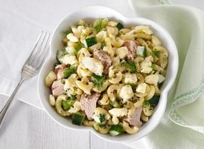 Tuna and Cheddar macaroni salad