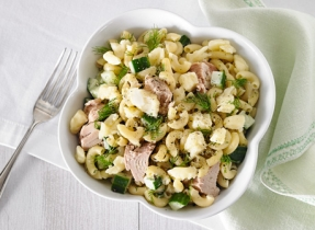 Tuna and Cheddar macaroni salad