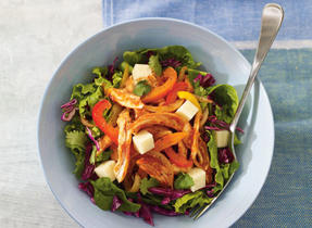 Turkey and Monterey Jack salad