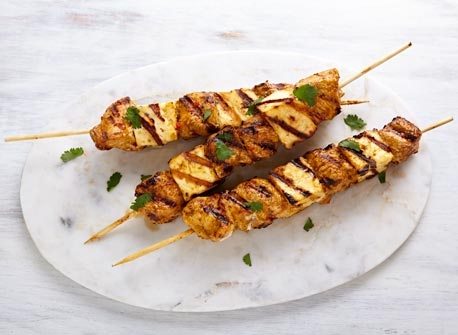 Turkey and Paneer brochettes  Recipe