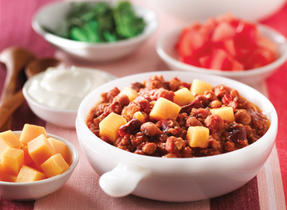 Turkey Bean and Cheddar Chili
