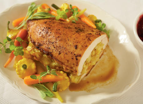 Turkey breast stuffed with curry and Gouda  Recipe
