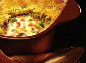 Turkey Pot Pie with Herbed Dumpling Crust