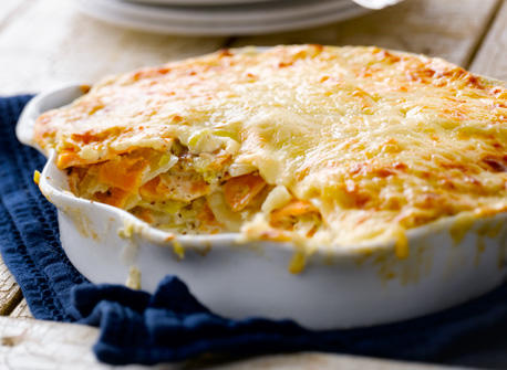 Two Potato, Three Canadian Cheese Gratin Recipe