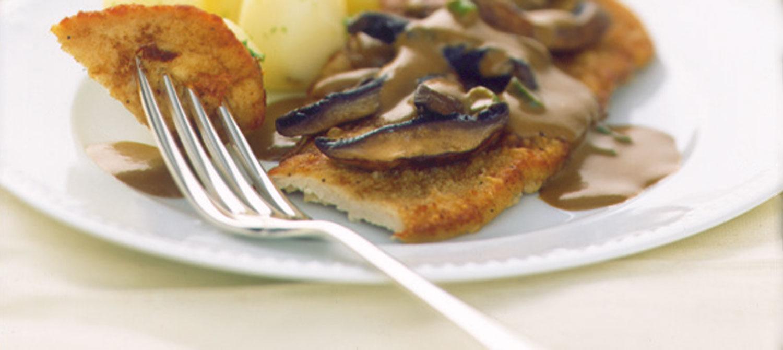 Veal Scaloppine with Mushroom Marsala Sauce recipe | Dairy Goodness