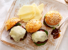 Veal Sliders with Extra Old Cheddar