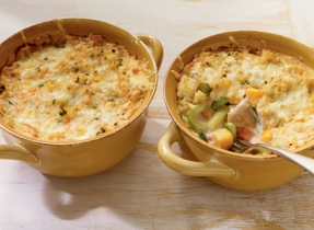 Vegetable, Chicken and Cheddar Casserole