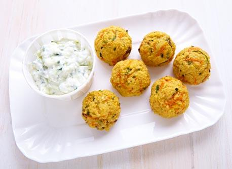 Vegetable couscous and Ricotta poppers Recipe
