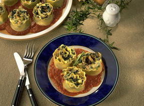Vegetable Lasagna Swirls