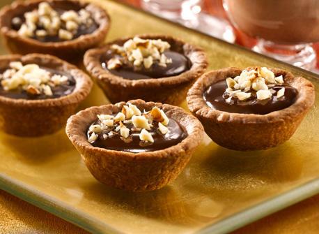 Warm Chocolate Hazelnut Truffle Tarts recipe | Dairy Goodness