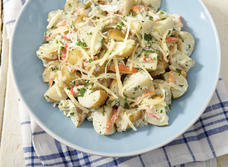 Warm Potato Salad with Crab and Swiss Cheese   recipe