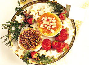 Warm Praline-Topped Baby Brie