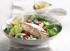 Warm Salmon and Tomato Salad Recipe