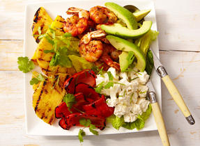 Warm Tropical Salad with Queso Fresco