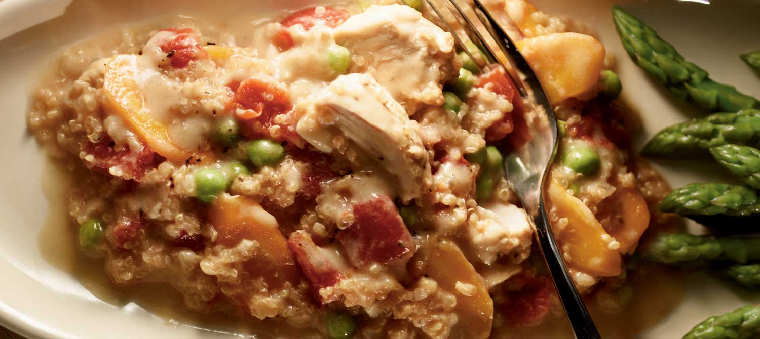 Weeknight Chicken Quinoa Stew recipe