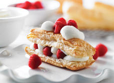 White Chocolate-Cream Filled Pastries