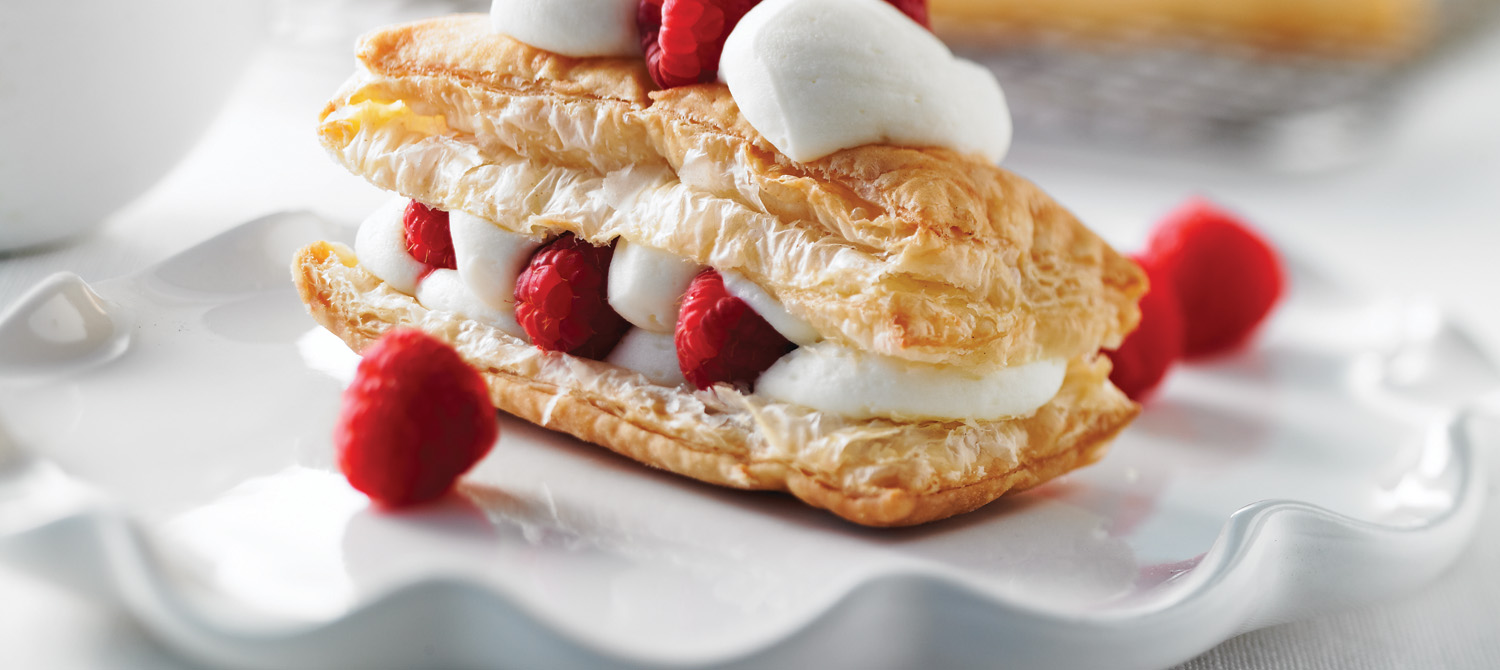 White Chocolate-Cream Filled Pastries recipe | Dairy Goodness