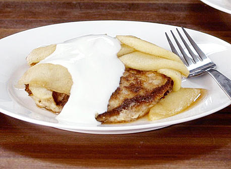 ... Grain Pancakes with Apple Compote and Yogurt recipe   Dairy Goodness