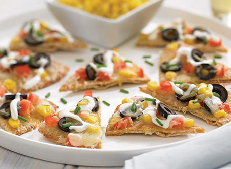 Whole Wheat Nachos with Corn and Three Cheeses Recipe