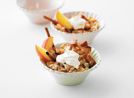 Yummy Peach Bread Pudding Recipe
