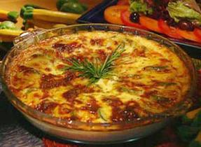 Zucchini Clafouti with Cantonnier Cheese