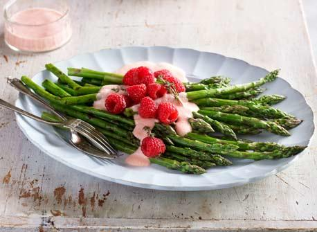 Grilled Asparagus with Creamy Raspberry and Dijon Vinaigrette recipe ...