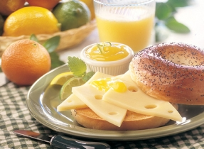 Swiss Lemon Poppy Seed Bagels