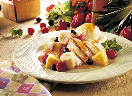 Butterscotch Fruit Packets and Grilled Angel Food Cake Recipe