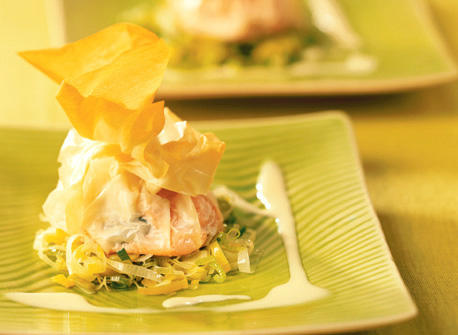 salmon puffs with real beurre blanc recipe - Bur Blanc Recipe