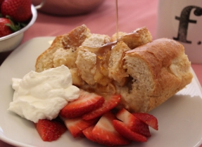 Baked French Toast Boat