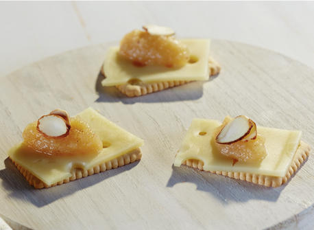 biscuits with swiss cheese and honey topping recipe dairy goodness