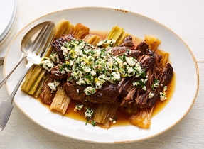 Braised beef & Feta gremolata