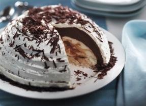 Marbled Chocolate Bombe