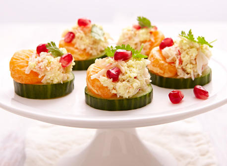 Ricotta crab canap s recipe dairy goodness for Canape hors d oeuvres difference