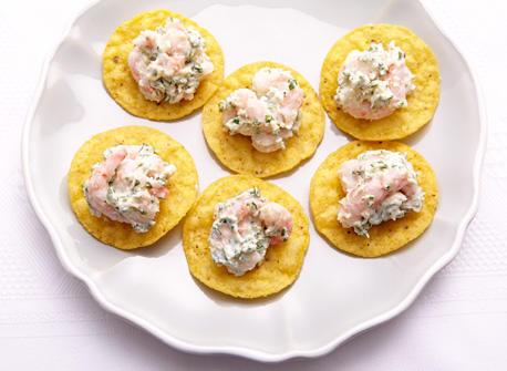 Mascarpone shrimp bites  Recipe
