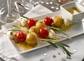 Canadian Bocconcini Tomato Nibbles