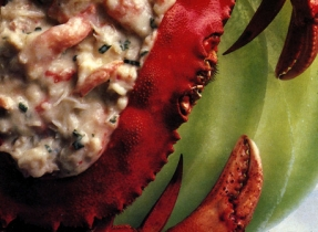 Crab on Melon Appetizer
