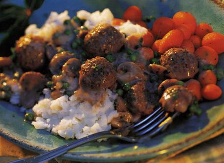 Meatballs in Creamy Mushroom Sauce Recipe