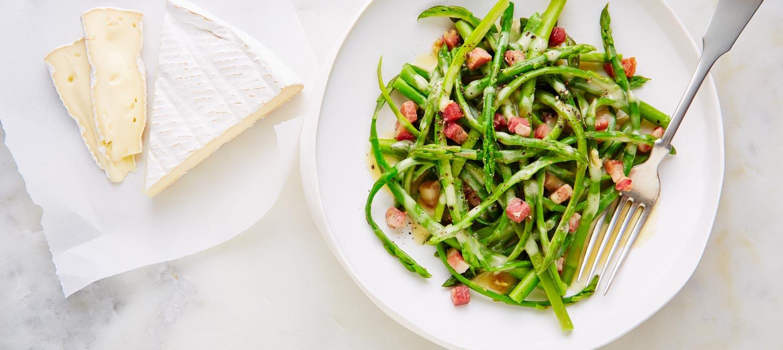 Brie & asparagus carbonara recipe | Dairy Goodness