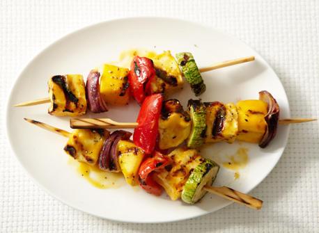 Spicy Mango Halloumi Brochettes Recipe
