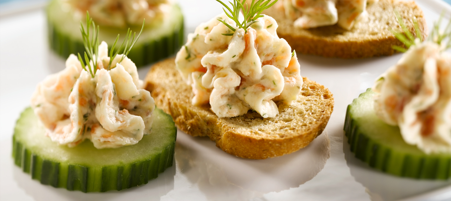 Smoked salmon mousse canapes recipe dairy goodness for Hot canape ideas