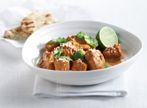 Quick Chicken Curry with Sweet Peppers