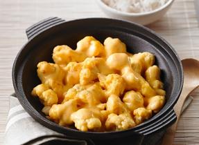 Stir-Fried Cheddar-Cauliflower Curry