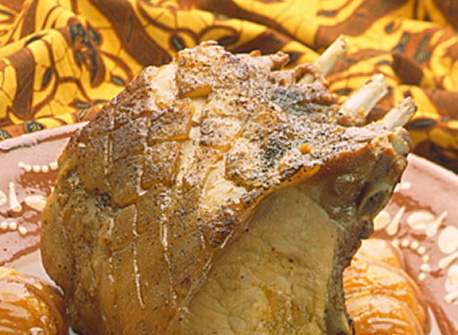 Braised Rack of Pork with Pearl Onions and Apricots recipe ...