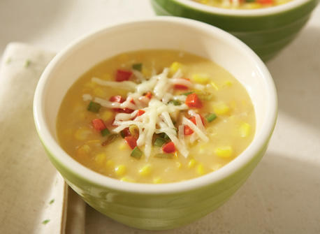 Corn chowder with Holiday salsa Recipe