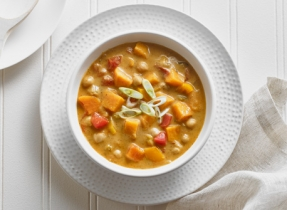 Cajun Sweet Potato and Chickpea Chowder