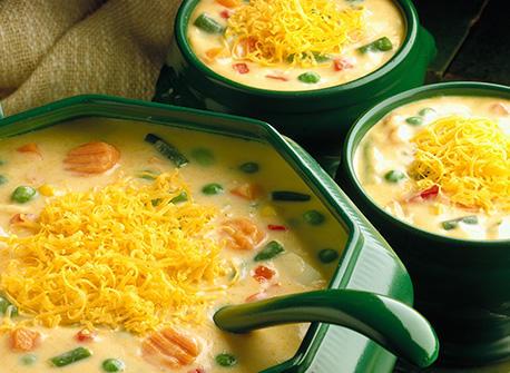 Cheddar Vegetable Chowder Recipe